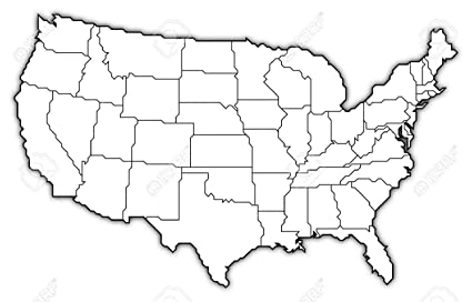 United States Of America Map Outline.Amazon Com Home Comforts Laminated Map How To Draw A Us Map