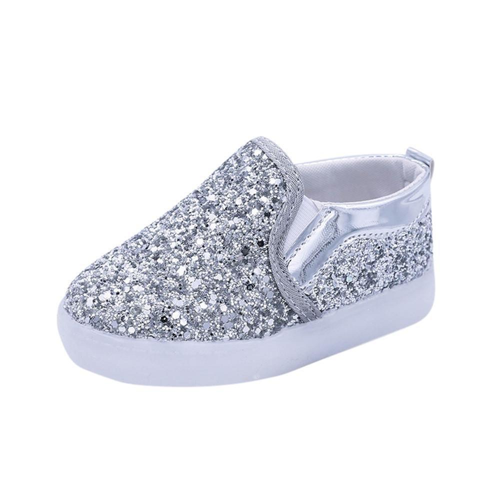 Doublehero Unisex 1-6 Jahre Mode Baby Junge Mädchen Art und Weisesnowers Stern Leuchtendes LED Licht Mode Star Sneaker Kinder Kleinkind Schuhe