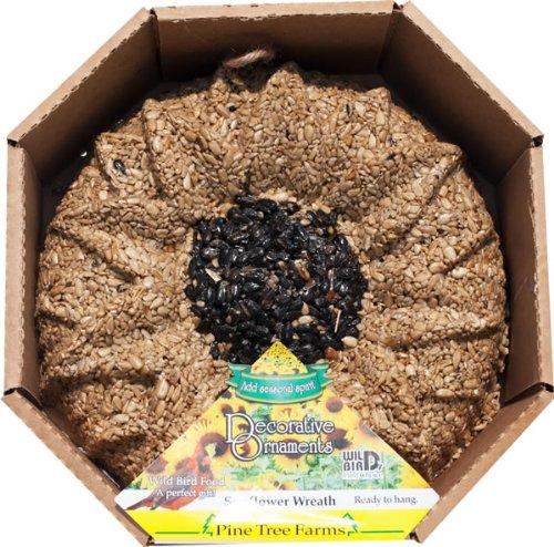 Pine Tree Farms 1363 Sunflower Shaped Seed Wreath, 3 Pounds - Wreath Seed Sunflower