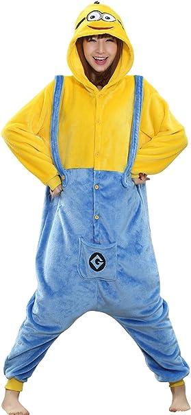 Babyonlinedress Pijama adulto de cosplay de anime de Minions para ...
