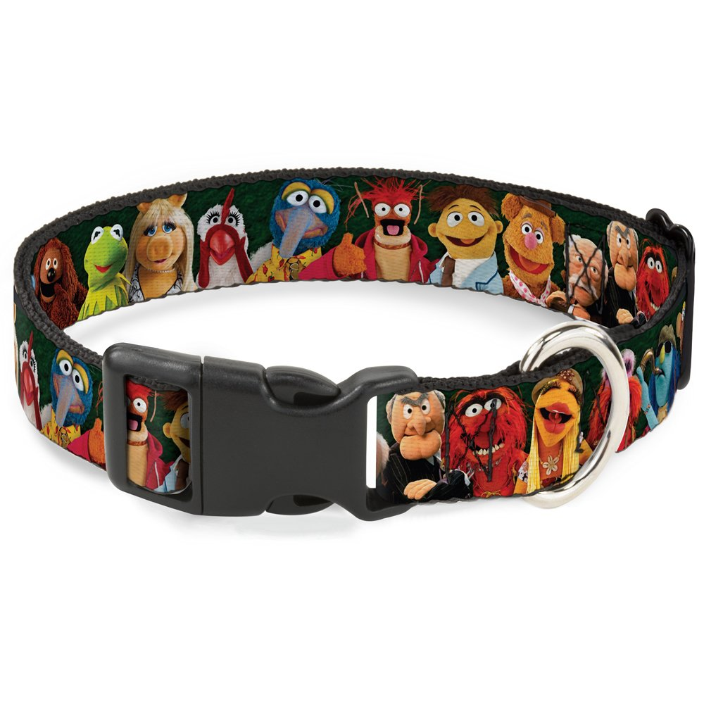 Buckle-Down Breakaway Cat Collar - Muppets 20-Character Group Pose Greens - 1/2'' Wide - Fits 9-15'' Neck - Large