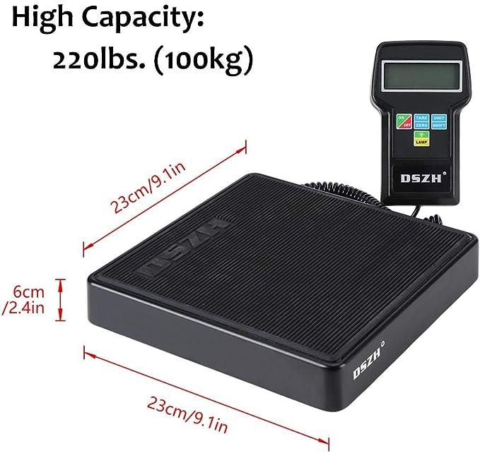 TMISHION Balanza electrónica de 220lb / 100kg / Escala de Carga de ...