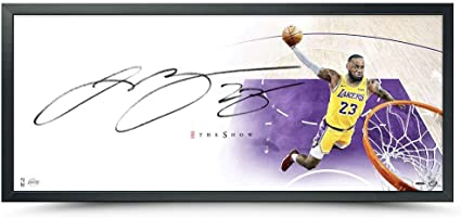 LeBron James Autographed The Lakers