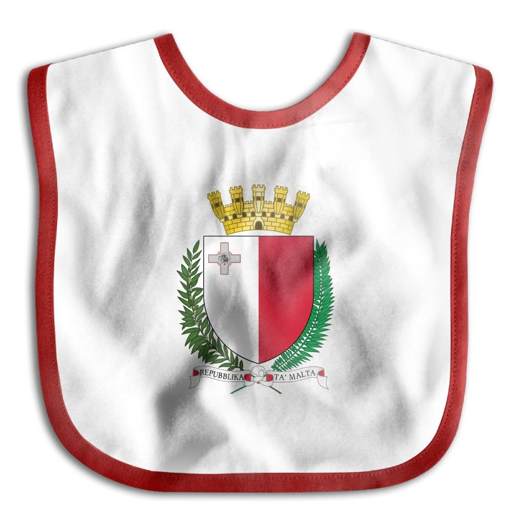 Marima Coat of Arms of Malta Personalized Scarf Bib Feeding /& Teething Fancy Baby Bibs and Burp Cloth Polyester Cotton