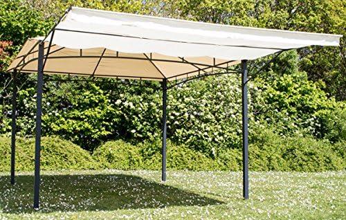 3 mx3 m marfil estructura de acero para toldo Gazebo – Marquee Clevedon 140 g/m², resistente al agua crema: Amazon.es: Jardín