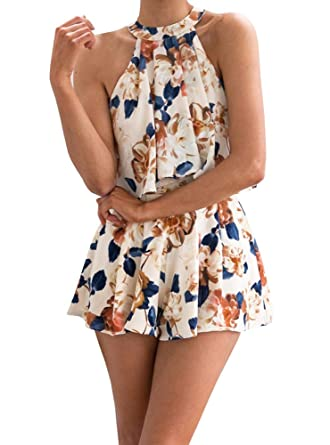 Imily Bela Women s Boho Sleeveless T Shirt Tops   Mini Short Skirts Two  Pieces Beach Party Suit at Amazon Women s Clothing store  5f44dbad5