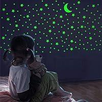FFL DREAMS Glow in The Dark Stars and Moon, Realistic No Dots No Squares Set. 338...