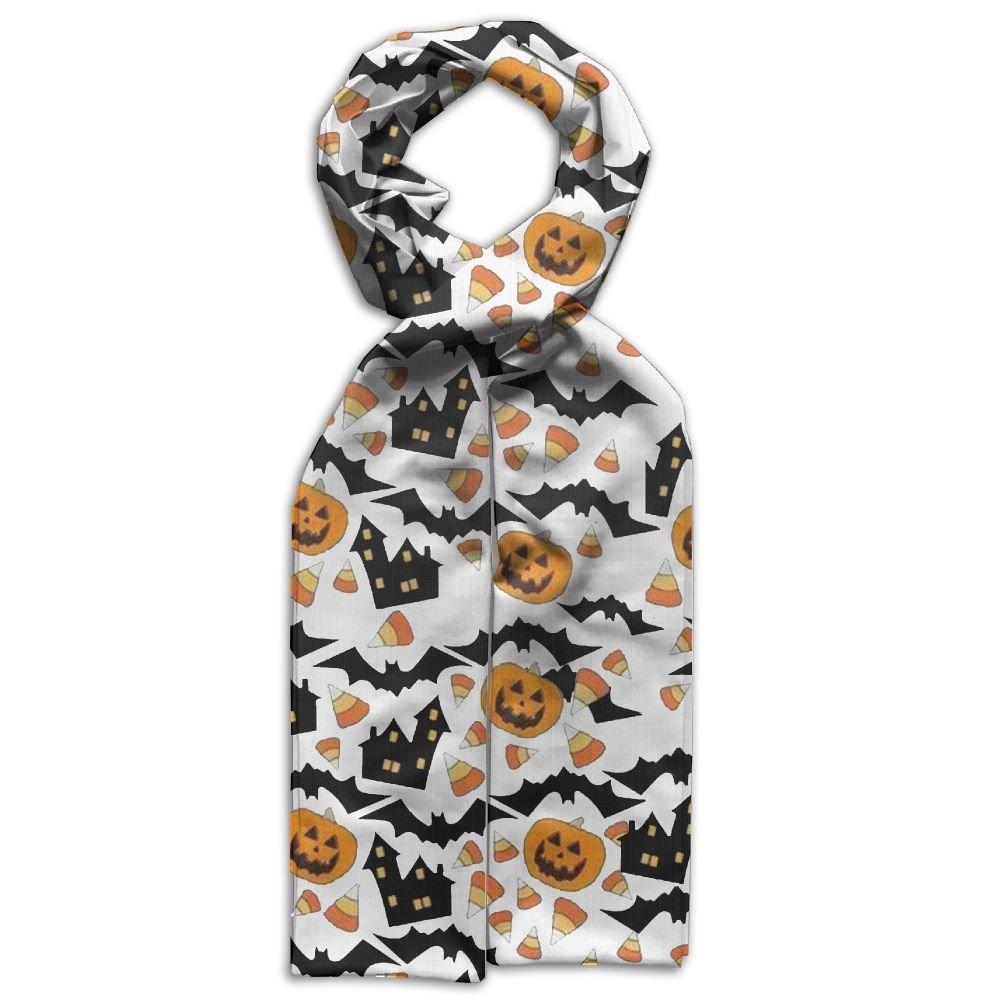 DGYEG44 Pumpkin Bat Printing Scarf Kids Warm Soft Fashion Scarf Shawl For Autumn Winter