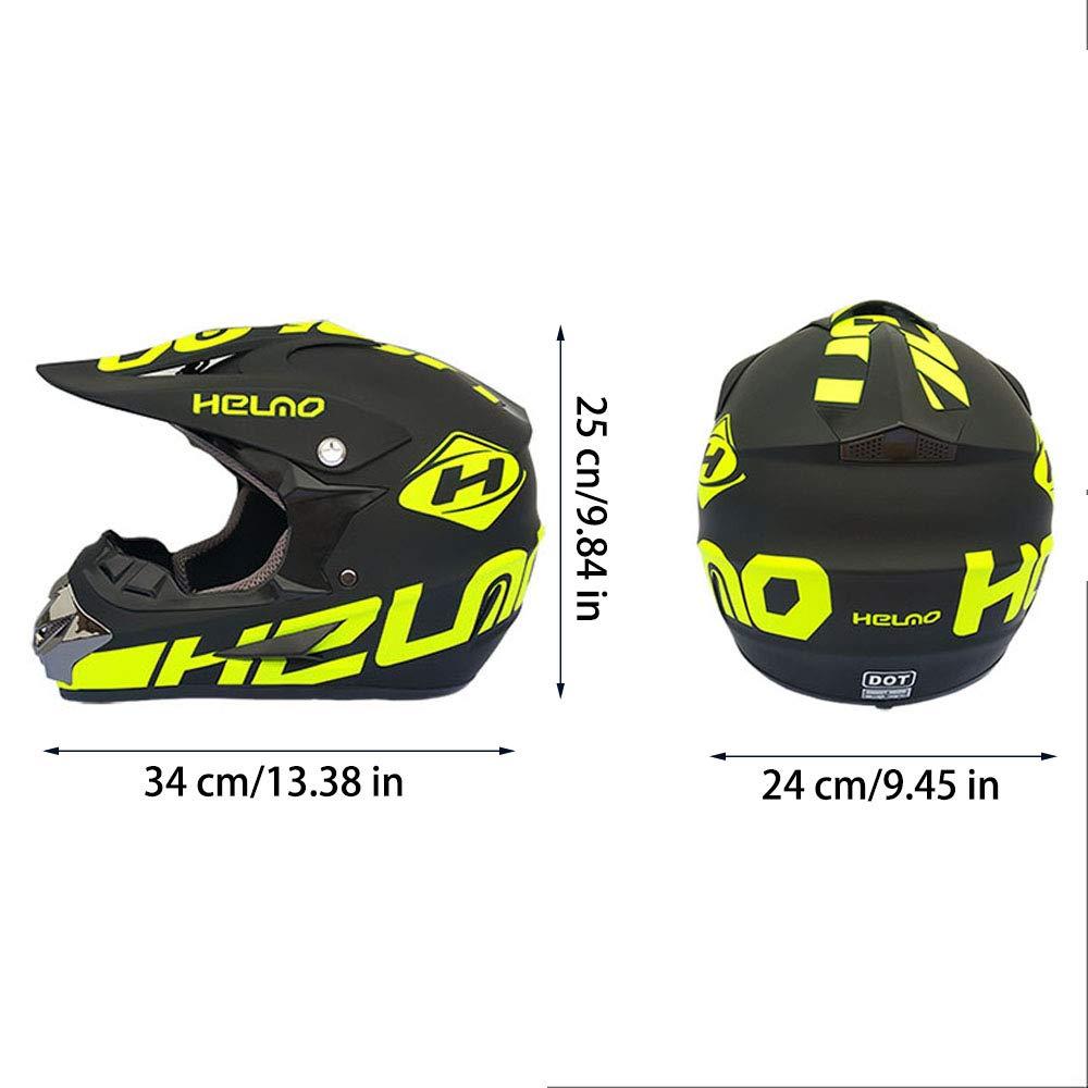 Gloves,Goggles,Mask,Stickers for Free Motocross Helmet Mountain Bike Off Road Motorbike Crash Helmet Full Face Adult Children Kids Helmet D.O.T Certified for ATV//MX//BMX//Enduro//MTB ,A,M