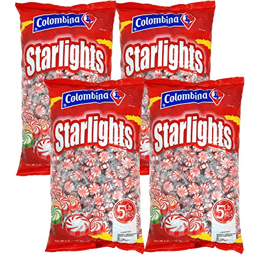 (Nosh Pack Peppermint Starlight Mints Individually Wrapped Candy Bulk 20 Pounds - Approx. 1600 Mints)