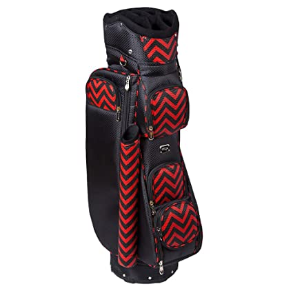 Amazon.com : Cutler Bags Women Hepburn Cart Bag Black/Red ...