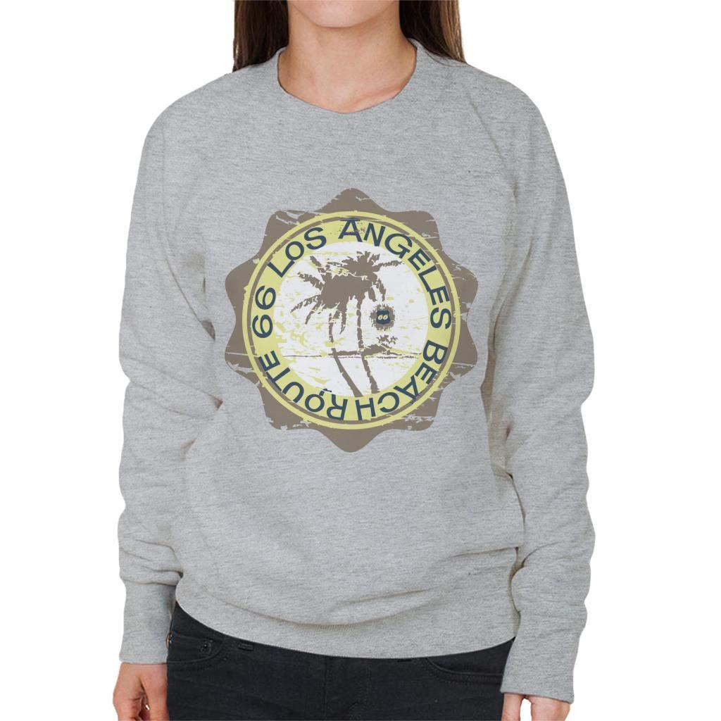 Route 66 Los Angeles Beach Womens Sweatshirt
