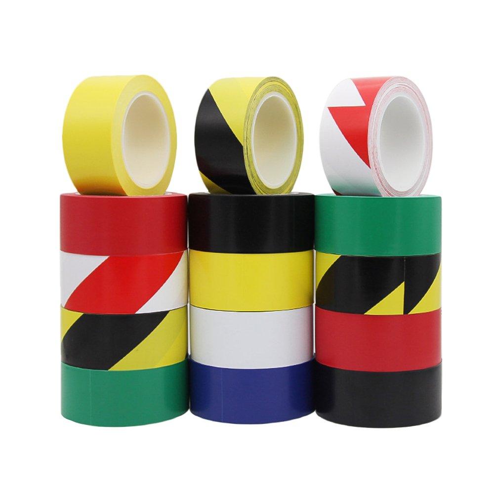 Zhi Jin 1Rolls Vinyl Tape Flagging Tapes Safety Marking Set for Carpet Floors Electrical Office 40mm33M/1.6''36yd Blue