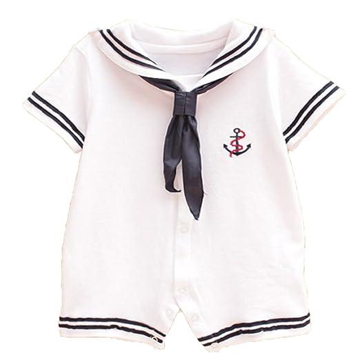 4dfb872b1e0b Amazon.com  MaBaby Baby Boy Girl Romper Jumpsuit Bodysuit Anchor ...