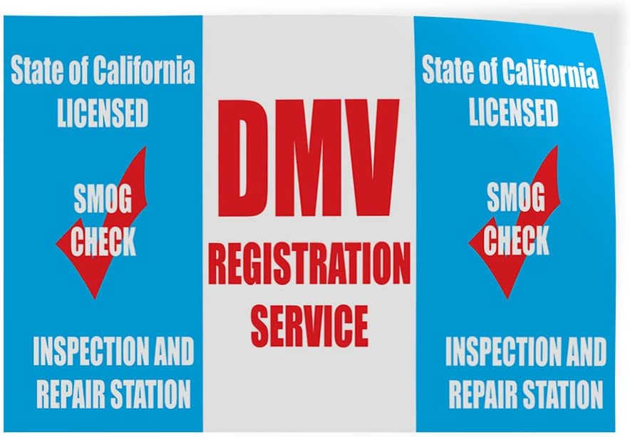 Set of 10 14inx10in Decal Sticker Multiple Sizes Registration Licensed SMOGI Automotive Business Partners Outdoor Store Sign Blue