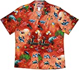 RJC Mens Maui Reef View Shirt CORAL 5X