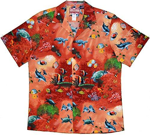 RJC Mens Maui Reef View Shirt CORAL 5X by RJC