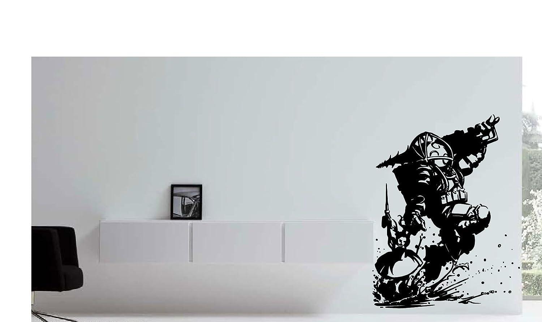 amazon com bioshock big daddy u0026 little sister wall decor vinyl