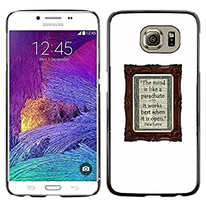 Planetar® ( Poster Notebook Diary White Text Writing ) Samsung Galaxy S6 / SM-G920 / SM-G920A / SM-G920T / SM-G920F / SM-G920I Fundas Cover Cubre Hard Case Cover
