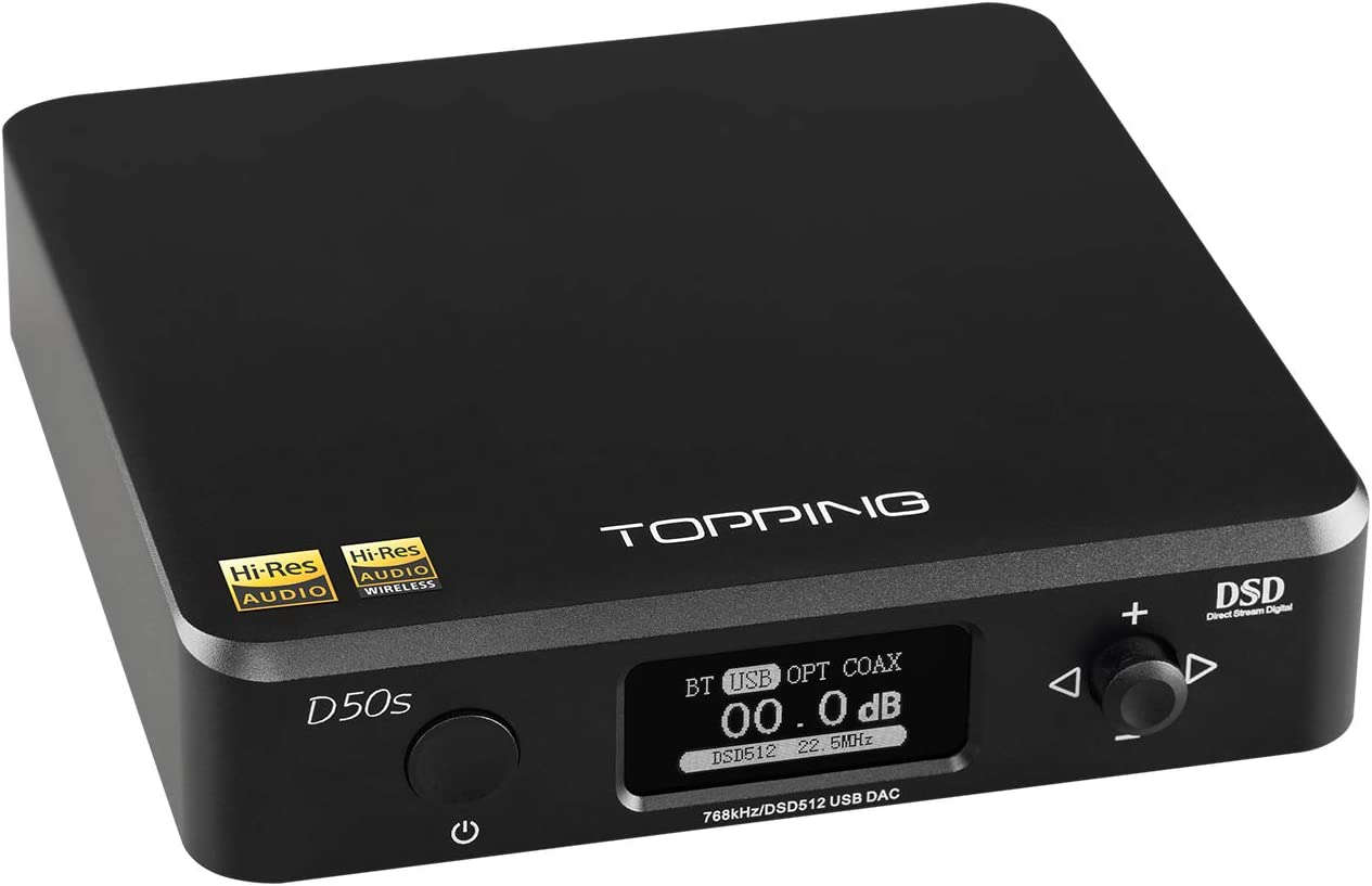 Topping D50S Bluetooth 5.0 ES9038Q2M Audio Decoding USB DAC