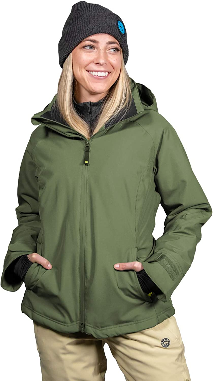 Windproof Wildhorn Frontera Premium Womens Ski Jacket Insulated 12k Water-Resistant Snow Jacket Designed in USA