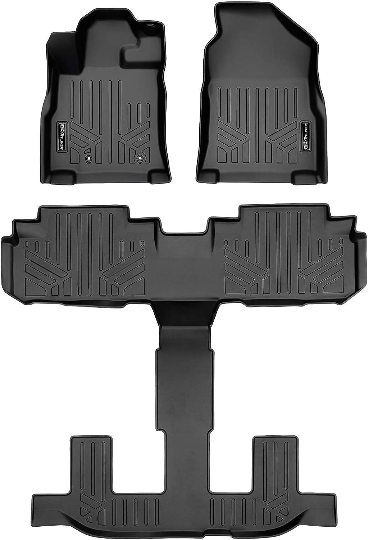 MAXLINER Custom Fit Floor Mats 1st Row Liner Set Black for 2019 Subaru Ascent