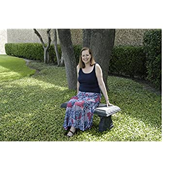 Exaco FM-800 Endura Clay Garden Bench, Charcoal Grey