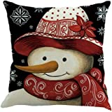 Hot Sale! Kavitoz Christmas Cushion Cover, Printing Dyeing Sofa Bed Home Decor Pillow Cover (N)