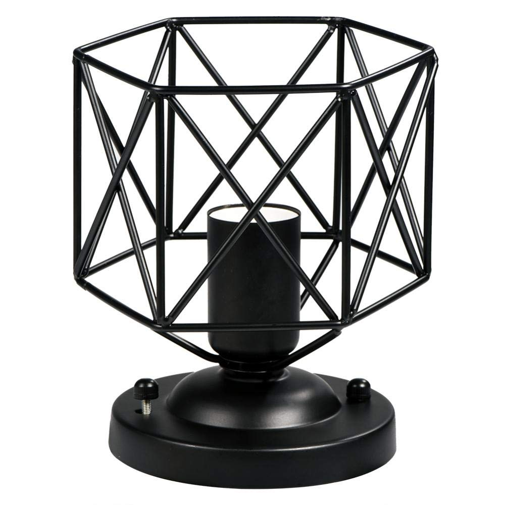Lamp Guard,Geometric Shape Ceiling Light Lamp Cage for House Hotel Cafe Decorative Lamp Cage