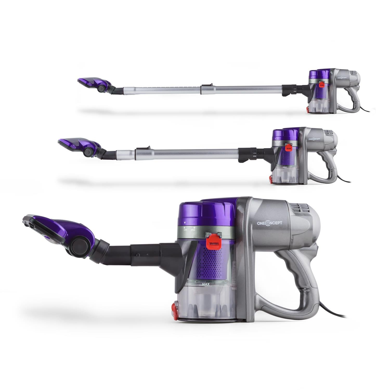 Oneconcept Cleanbutler • Aspirador • Batería • Aspirador de Mano • 450W • 73 dB • Tubo telescópico • Sin Bolsa • Gran Potencia aspiradora • Mango ergonómico ...