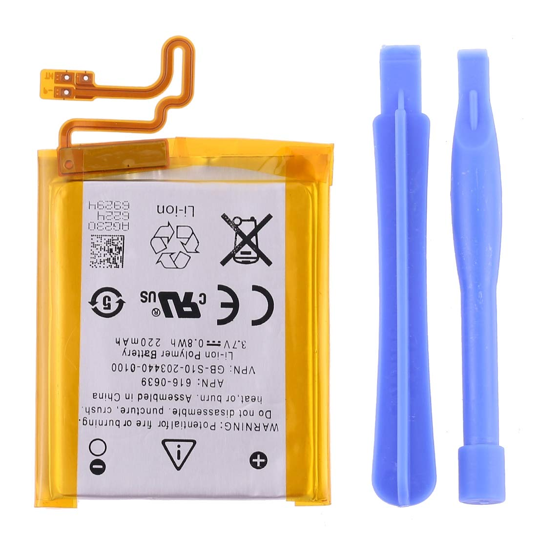 XINGRUI Boutique Accessories 3.7V 220mAh Rechargeable Replacement Li-Polymer Battery for iPod Nano 7 Moblie Phone Battey