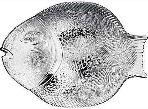 6 x Fish Plate//Fischservierplatte Glass Marine Plate