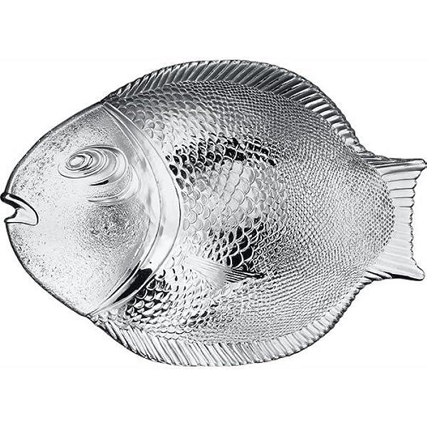 SALE Fish Shaped Clear Glass Ovenproof Dish Baking Dish Fish Dish Clear Glass Baking Tray Fish Plate Ovenproof fish platter glass plate