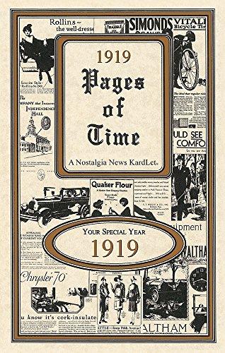 - 1919 Pages Of Time KardLet (PT1919) 100th Celebration