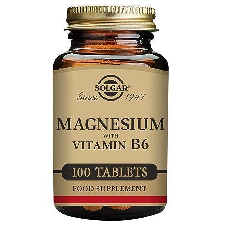 Solgar Magnesio con Vitamina B6-100 Tabletas