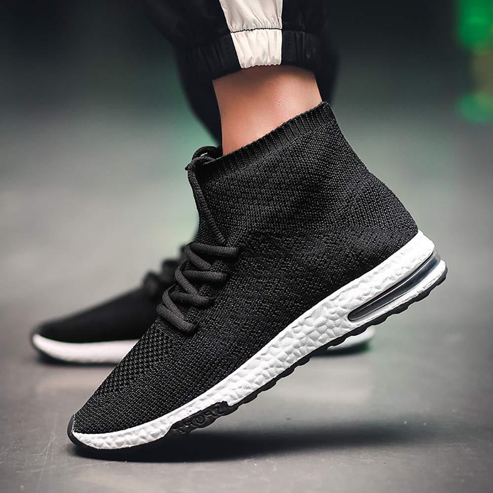 iHAZA Hommes Tissage Haut de Gamme Chaussettes des Chaussures Tendance Air Coussin des Chaussures Vieux Baskets