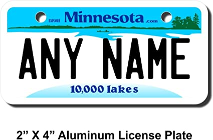 PERSONALIZED BICYCLE TAG 3X6 New Jersey Novelty Aluminum State License Plate