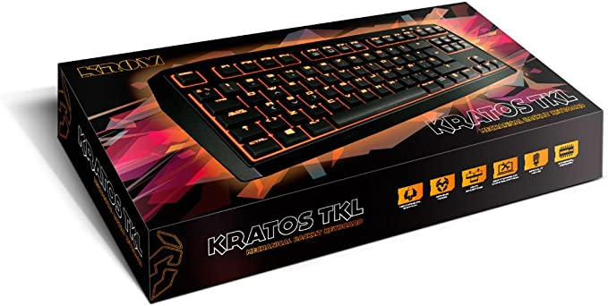 KROM NXKROMKRTSTKLRD - Teclado Gaming (alámbrico, USB) Color Rojo