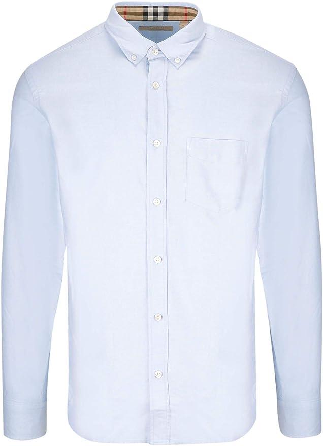 Burberry Luxury Fashion Hombre 8008709 Azul Camisa | Spring ...