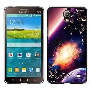 Confusión rotos de la Materia Celestial - Metal de aluminio y de plástico duro Caja del teléfono - Negro - Samsung Galaxy Mega 2