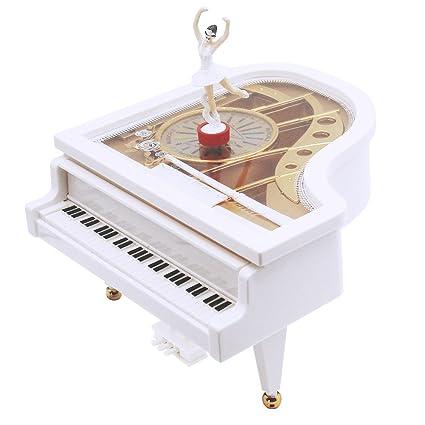 AVESON Caja de música, clásica forma de piano, bailarina mecánica, baile, baile