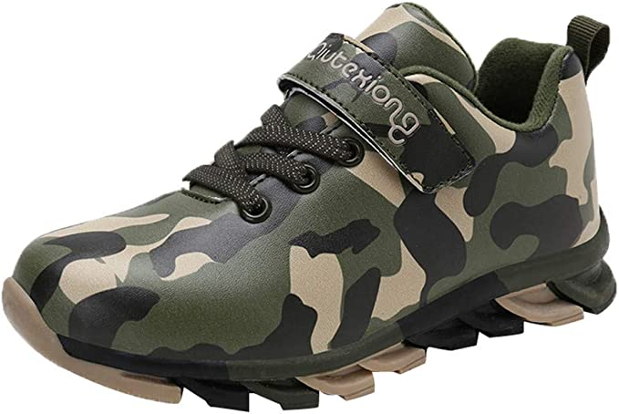 Child  Boys Kids Breathable Camouflage Running Shoes Lace Up Sneakers Trainers