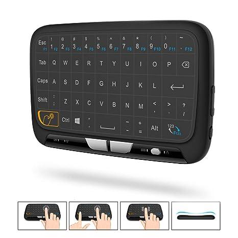 ANIUXIAOGE Control Remoto Inalámbrico con Mango De Teclado Mini Juego Interfaz USB con Control Táctil Completo