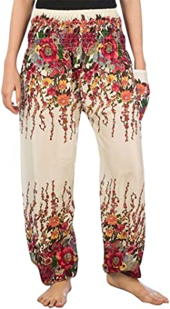 Yours Clothing Women/'s Plus Size Black /& White Floral Harem Trousers