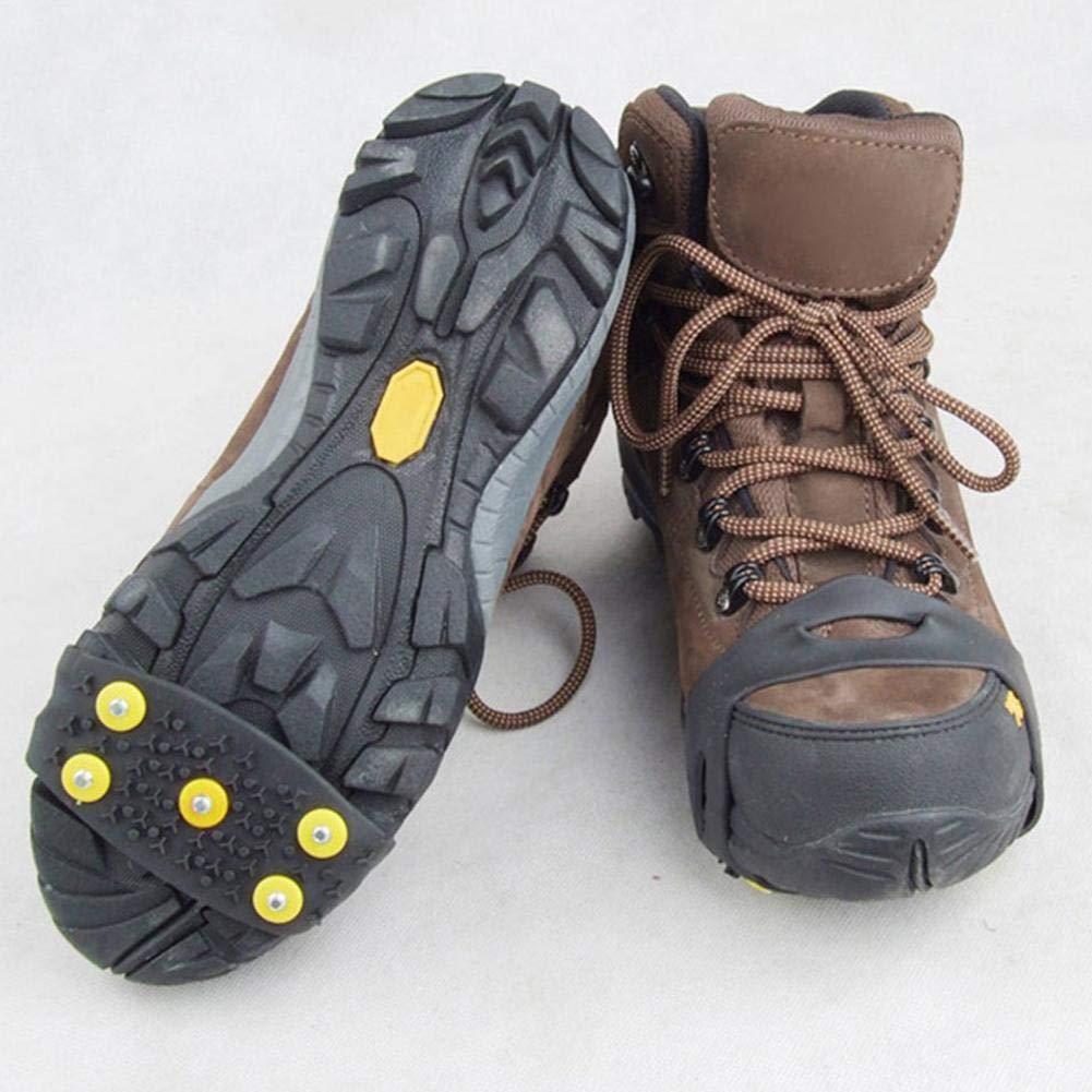Seasons Shop Silicone Crampons Antid/érapant sur Chaussures 5 Clous /À Neige Grips Crampons Crampons Pointes Couvre-Chaussures De Ski Protection Antiglisse pour Unisexe Bottes