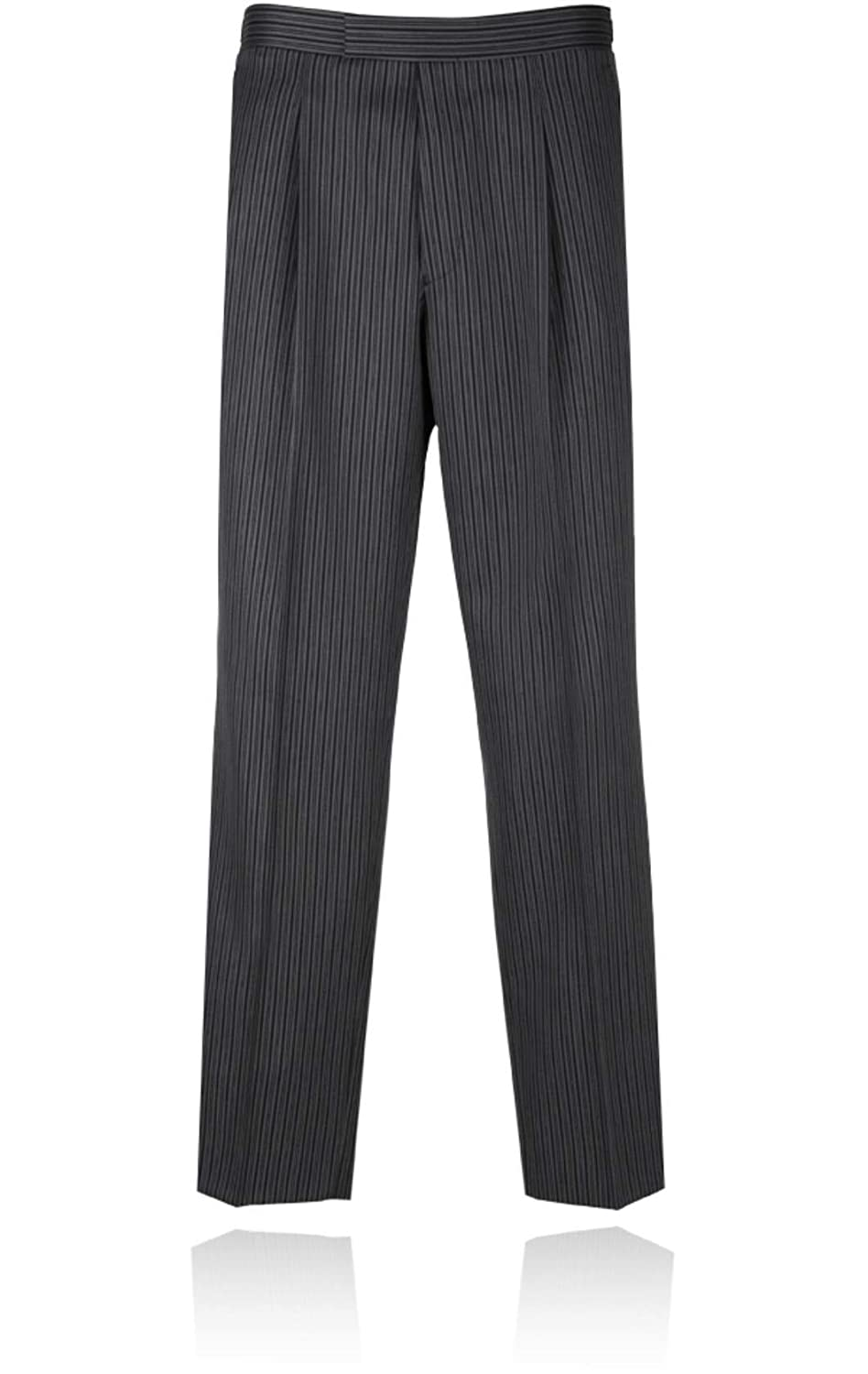 1920s Men's Pants History: Oxford Bags, Plus Four Knickers, Overalls Mens Black & Grey Striped Morning Suit Trousers £50.00 AT vintagedancer.com