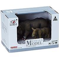 ZHONGJIEMING TOYS Rhino Figures Toy, 2 Pieces