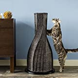 The Refined Feline CALYPSO-SK-AMZ Calypso Cat Scratcher Post, Espresso