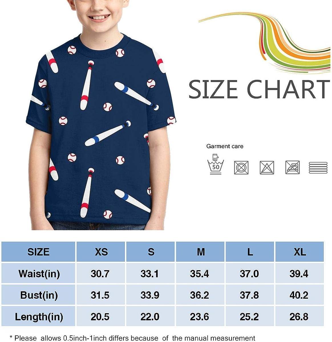 HHTZTCL Baseball Bat Kids Print Graphic Tee Short Sleeve T-Shirt