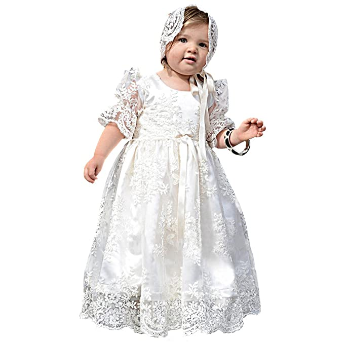 4e15005d1 EsTong Newborn Baby Girl Christening Gown Lace Toddler Dedication ...